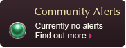 Community Alerts - Currently No Alerts